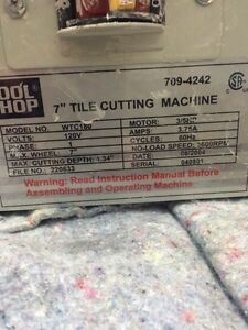 "7"" tile cutting machine in leduc Edmonton Edmonton Area image 2"