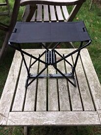 Camping folding chair. Great for events, fishing and travel etc. As new condition. Comes with case