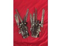 'Deluxe' Edward Scissorhands gloves for fancy dress