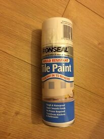 Ronseal tile paint - white