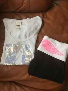 Victoria's Secret leggings and Pink t-shirt Kitchener / Waterloo Kitchener Area image 1