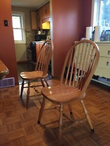 Solid Oak Table & Chairs Cambridge Kitchener Area image 2