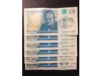 New £5 pound nodes