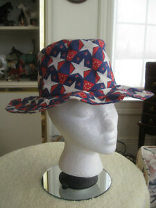 COLOURFUL OLD VINTAGE WIDE-BRIMMED FLOPPY FUN HAT