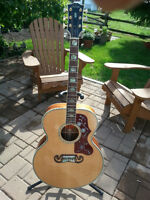 Gibson j-200 custom koa limited run 20