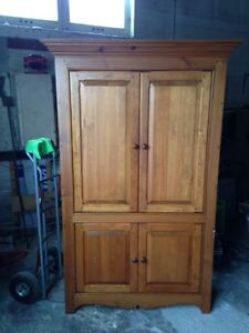 Large solid wood tv cabinet