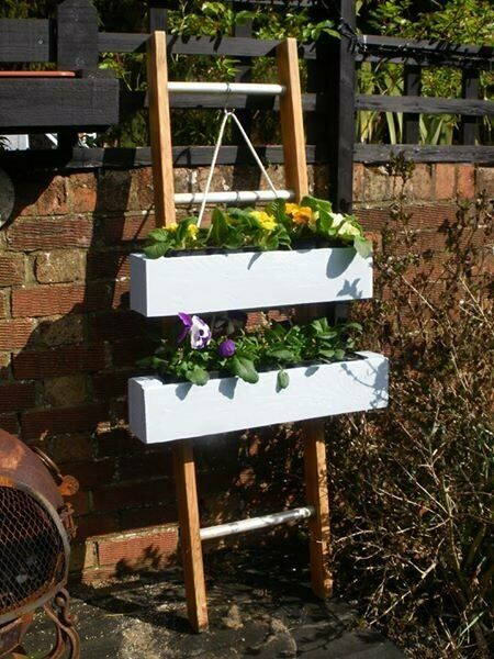 Up Cycled Vintage Wooden Ladder Complete With Up Cycled Timber Planters Boxes In Arundel West Sussex Gumtree