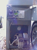 65000 btu lincoln oil furnace with tank.