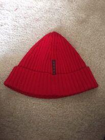 Original red prada beanie hat