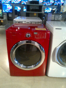 Sécheuse frontale Frigidaire, rouge / Front load red dryer