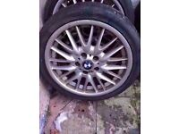 "Bmw mv1 18"" alloy wheel single wheel FRONT or REAR 18x8j / 18x8.5j Can Post (1 wheel)"