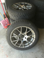 BMW 17 inch rims and tires. Hankook 225/50/17. Lots of tread!