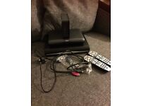 Sky+ box, router and free view box