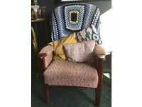 Two Orthopedic Retro Vintage Arm Chairs-Very Comfy!!!
