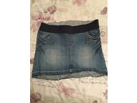 Excellent condition Redherring denim maternity skirt size 10
