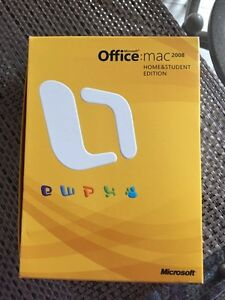 OFFICE MAC HOME AND STUDENT EDITION 2008