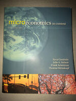 Microeconomics in context 2ed edition Textbook