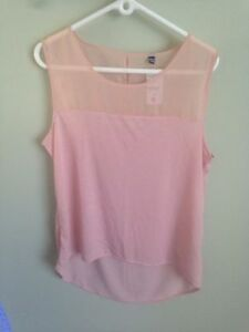Light pink sleeveless top, brand new with tags!