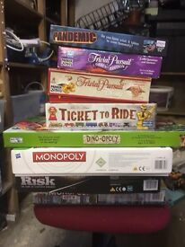 Collection of classic board games, excellent condition