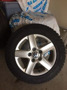 Like new set of 4 winter tires for VW Jetta