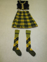 TWO HIGHLAND DANCE COSTUMES FOR SALE