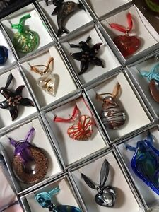 Hand blown glass necklaces