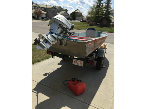 Used 2000 Lund Boat Co Honda 15 HP 4 Stroke