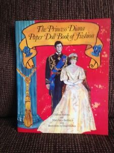 The Princess Diana Paper Doll Book of Fashion (1982) for Sale