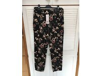 Floral trousers.