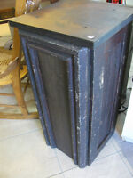 Small Primitive Solid Wood Chimney Cupboard, Square Nails