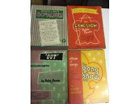 Original sheet music and song books