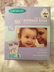 Breast feeding storage bags (lansinoh)