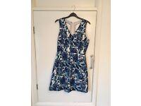 Blue floral dress 10/12
