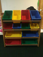 Craft And Toys Organizer Bins Unit