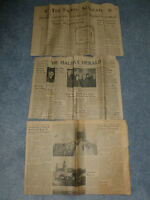 Newspapers from 1945, 1948, 1953