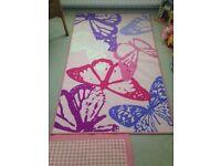 Girls Butterfly Rug/Mat