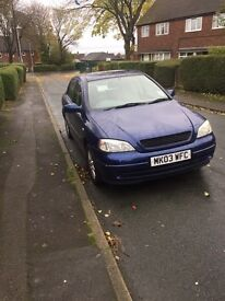 Vauxhall Astra 1.6 ( low mileage ) *reduced to sell*