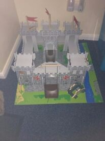 Chad Valley Wooden Castle & Accessories