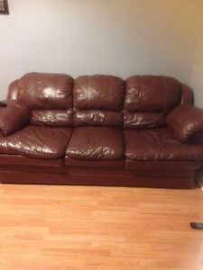 Leather couch chair