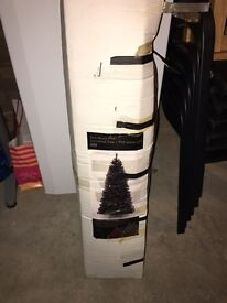 Slim line black Christmas Tree from House of Fraser 6ft- great condition comes boxed!