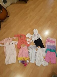 Baby girl lot sizes 0-6 months