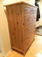 IKEA Solid Knotty Pine 6 Drawer Dresser