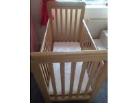 Troll bedside cot excellent condition complete with mattress!