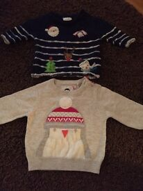 2 Christmas jumpers