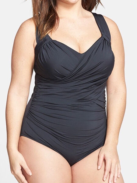 Badgley Mischka Front Drapped Swimsuit