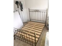 Antique Solid Brass Double Bed (4 foot 6) - Vintage and Rare - Intricate design