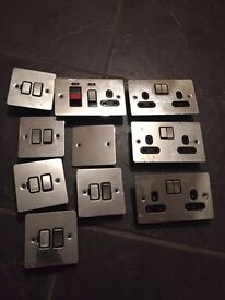*** Reduced *** Various flat chrome switches / Plugs