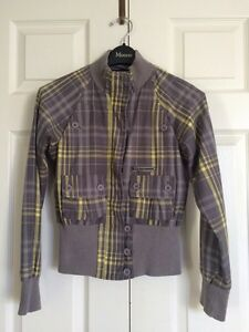 Plaid yellow/grey jacket