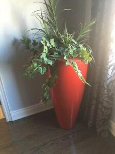 Vase with artificial plant