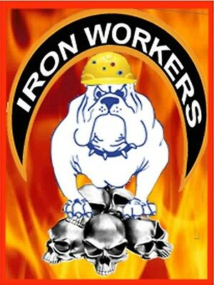 Ironworker With Skulls And Flames Ciw-2